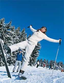 Первые шаги на горных лыжах