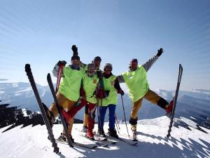 Лыжники на ГЛК