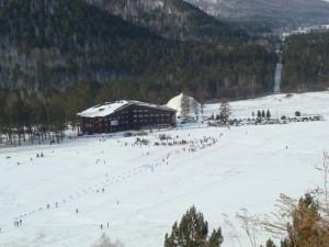 Место катания на сноубордах в Хакасии