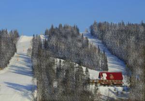 Трассы горнолыжного комплекса возле города Чусового