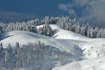 Склоны горнолыжного комплекса в Новосибирской области