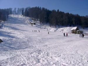 Лыжники в Грузии