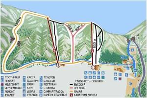 Схема трасс на Изумрудном