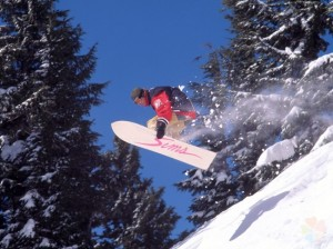 Сноуборд на горнолыжной базе