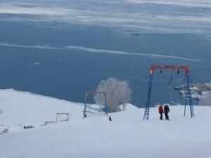 Трассы на горнолыжной базе на Камчатке