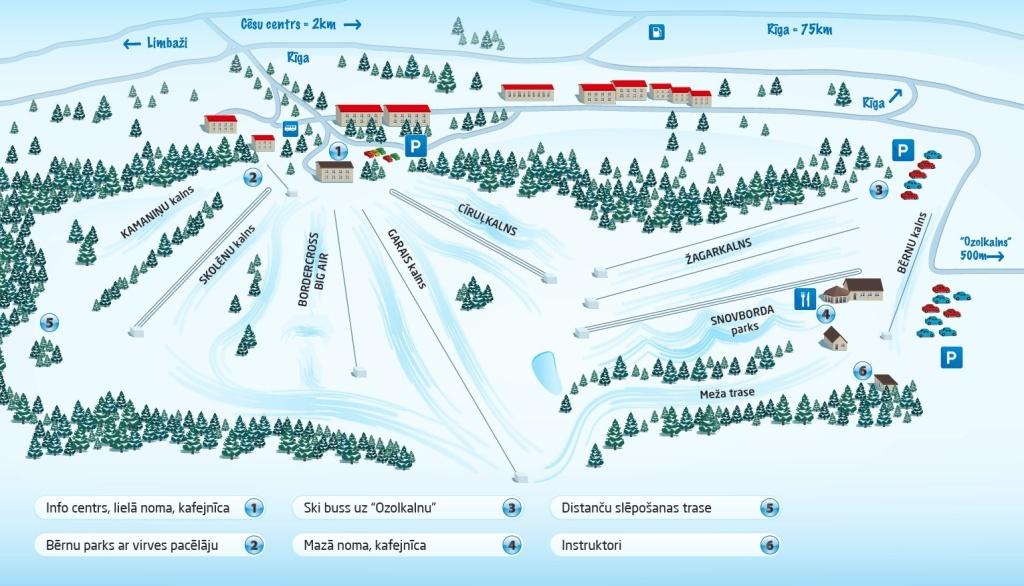 Карта курорта Жаргалкалнс
